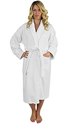 Indulge Linen Terry Velour Bathrobe, Shawl Collar, 100% Cotton, Made in Turkey