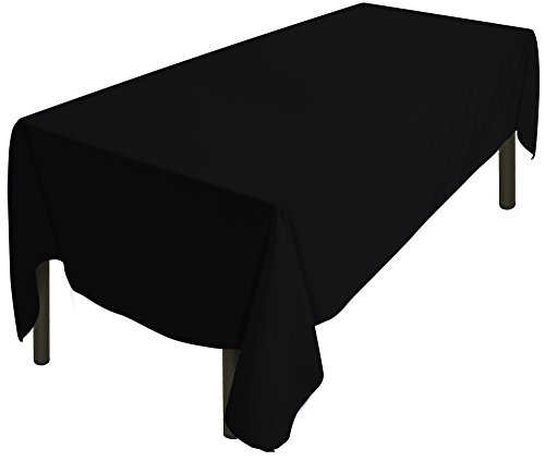 Utopia Home 60 x 126 Inch Black Tablecloth]()