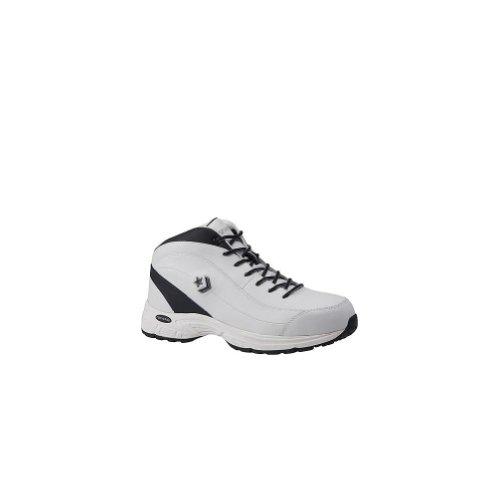 - Converse C4600 Men's White Leather Composite Toe Mid Hi Shoe-8.5M
