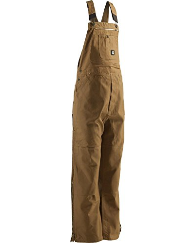 Berne Mens Original Unlined Duck Bib Overall, Brown, 42X34 Brown Duck Unlined Bib
