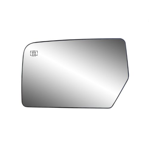 Fit System 33211 Ford/Lincoln Left Side Heated Power Replacement Mirror Glass with Backing Plate - Ford Expedition Side Mirror