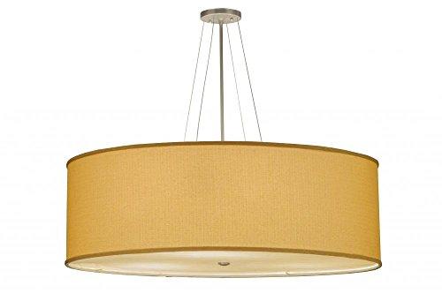 """Meyda Tiffany 144954 Cilindro Honey Bombay Textrene Semi-Flush Mount Light Fixture, 36"""" Width"""