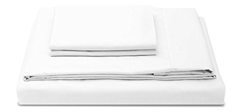 Molecule Bed Sheets with Air-Engineered Cooling Recovery, Tencel/Cotton Blend (White, Full)