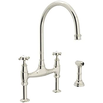 Marvelous Rohl U.4718X PN 2 Perrin And Rowe Deck Mount Bridge Kitchen Faucet