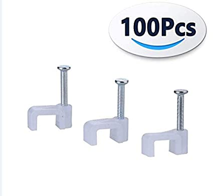 xinca round cable clamp 8mm (100 per pack) cable management rg6 rg59 cat5  cat6