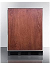 Summit FF63BBIFR Refrigerator, Panel Ready Door and Black Cabinet