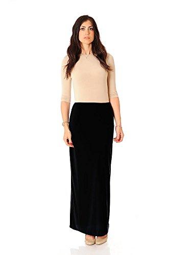 Monte Carlo maxi ITY Modest Long Slinky Skirt (12, Black)