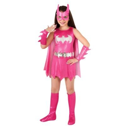 Gamora Costumes Girl (Pink Batgirl/Batman Costume Girls Size Small 4-6: Dress, Cape, Belt, Mask, Nails by Rubie's)