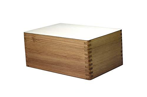 ROOGU Elegant Wooden Chess Pieces Box Storage Felt Inside Handmade in India