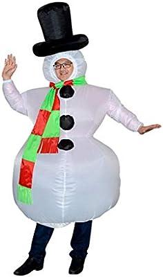BWNWPH Disfraz Inflable for Adultos de Navidad Muñeco de ...