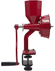 Manual Grain Grinder for Dry and Oily Grains - Durable Kitchen Manual Grain Mill, Fast Hand Flour Mill and Spice Grinder Manual for Home Use - Wonder Junior Deluxe Hand Grain Mill by Wondermill