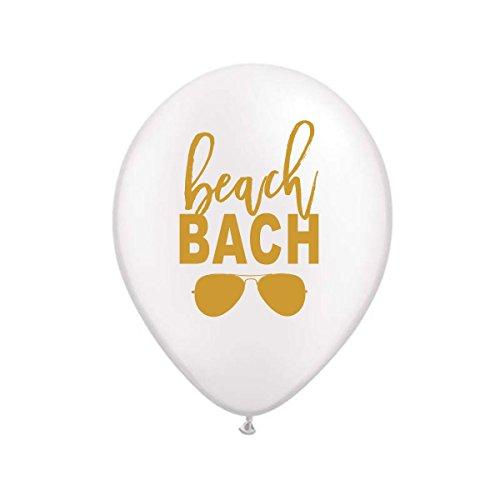 Beach Bach Balloons, Beach Bachelorette Party, Beach Party Decor, Bachelorette Party Balloons, (Set of 3)