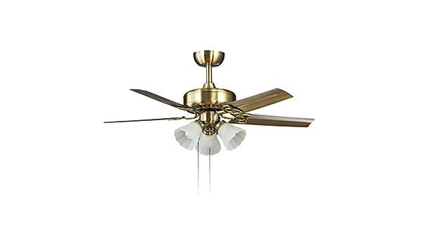 Ventiladores de techo con lámpara Hoja De Hierro Ventilador De ...