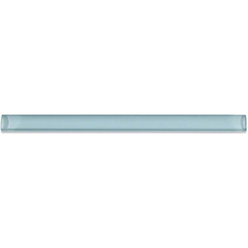 Glazed Tile Liner (Splashback Tile GPL MISTY BLUE Not Applicable Misty Blue 3/4 In. x 12 In. x 11 Mm Glass Pencil Liner Trim Wall Tile)