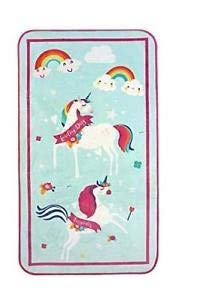 Unicorn Crown Crest Kids Childrens Room Large Rug 60 x 110 CM