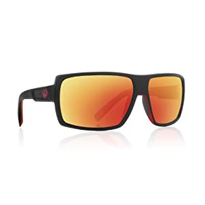 Dragon Alliance Double Dos Sunglasses, Jet, Red Ion