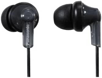 Panasonic RP-HJE120-PPK In-Ear Headphone, Black