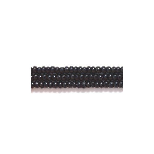 Preciosa Ornela Czech Seed Bead, Opaque Black, Size 11/0 11SB109