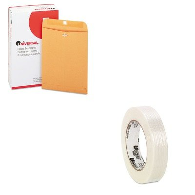 KITUNV35264UNV78001 - Value Kit - Universal Medium-Duty Filament Tape (UNV78001) and Universal Kraft Clasp Envelope (UNV35264) by Universal