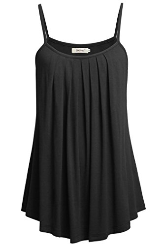 BEPEI Plus Size Tank Shirt, Summer Top Sleeveless Strappy Square Neck Halter (Ruched Spandex Halter Top)