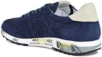 PREMIATA - Uomo Eric 3836 Scarpa Sneakers in camoscio Perforato Blu - 30757