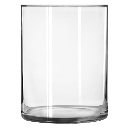 Libbey Cylinder Vase, 8 x 6.12-Inch, Clear, Set of 2