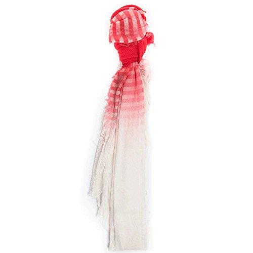 Grisal Womens Alba Striped Scarf Off white OSFA by Grisal