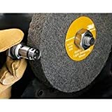 3M Scotch-Brite LD-WL Convolute Silicon Carbide Medium Deburring Wheel - Fine Grade - Arbor Attachment - 8 in Dia 3 in Center Hole - Thickness 1 in - 4500 Max RPM - 01666 [PRICE is per WHEEL]