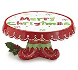 Merry Christmas Elf Feet Cake Plate Santa's Helpers