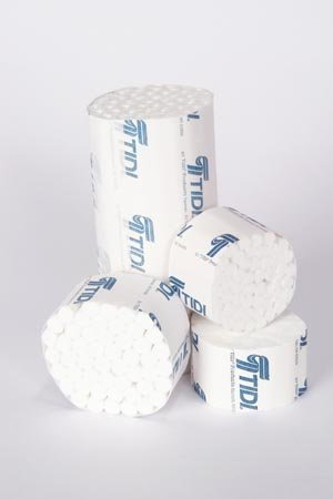 TIDI 969122 Dental Cotton Roll, Non-sterile, 2 Medium Diameter, 6'' Diameter, 3/8 Length (Pack of 500)