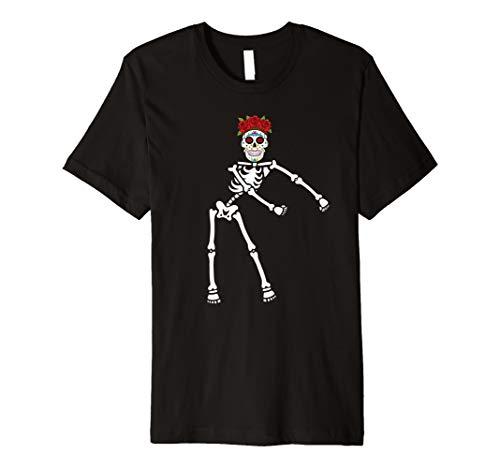 Skeleton Day Of The Dead Halloween Dia de los Muertos Shirt -