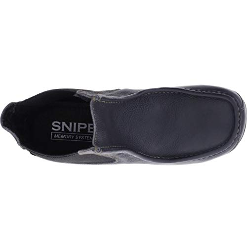 42291 Snipe Schwarz Negro Wallaby Mokassin Leder Art 004 Modell Herren Stiefelette Stiefel 0I7rwx0q