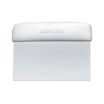 dexter-russell-sani-safe-19783-6-x-3-white-dough-cutter-scraper-with-polypropylene-handle