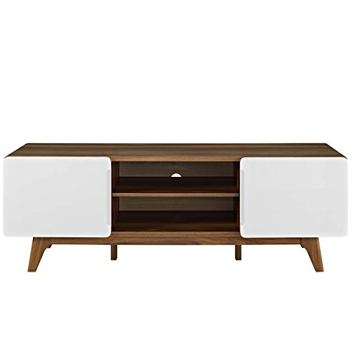 "Modway EEI-2543-WAL-WHI Tread, 59"" TV Stand, Walnut White"