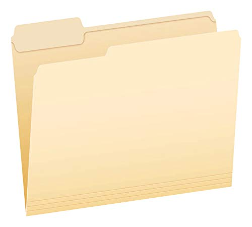 Pendaflex 1/3 Cut Reinforced File Folder, Letter, Mediumweight, Manila, Pack of 100