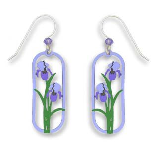 - Sienna Sky Two Tone Purple Iris Panel Earrings 1383