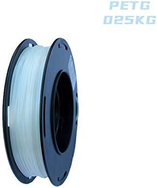 Transparent Blue 0.55 LBS Dimensional Accuracy +//- 0.05mm LEE FUNG 1.75mm PETG 3D Printing Filament Spool,1.75 mm 3D Filament for Most 3D Printer /& 3D Printing Pen 0.25KG