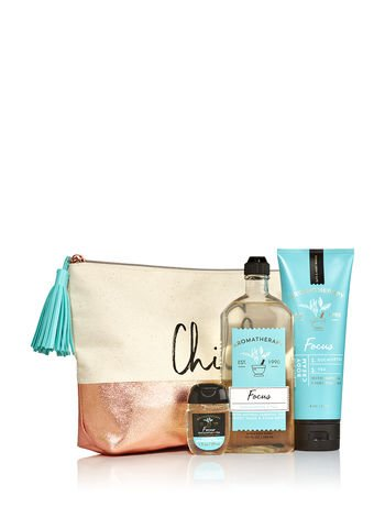 Bath & Body Works Aromatherapy FOCUS - EUCALYPTUS & TEA Chill Gift Bag