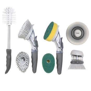 Polder 7-piece Kitchen Brush and Sink Set