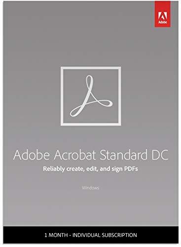 Adobe Acrobat Standard DC | Create, edit and sign PDF documents |...