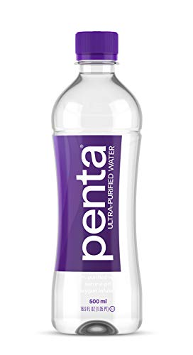 Penta 100% Ultra Purified Bottled Water, Natural pH Hydration, (13 Step Purification Process), 16.9 Fl. Oz (Pack of 24)