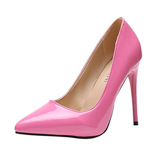 (Tantisy ♣↭♣ Women's Pointed Toe High Heels/Sexy Slip On Pumps Stiletto/Wedding Party Basic Shoes/Business Shoes/11.5cm/4.6
