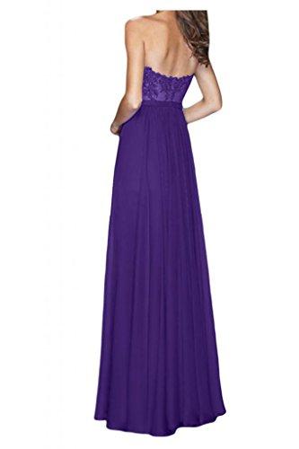 Toscana sposa incantesimo antiaderente a forma di cuore applicazione sera vestimento Chiffon sposa giovane a lungo lunghezza Party ball vestimento viola 36