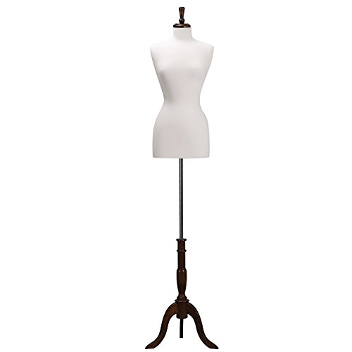 - Wowell Female Straight Pinnable Dress Form,Height Adjustable Mannequin Torso Size 6-8 White