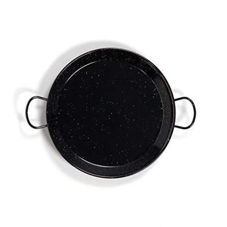 Paella Pan Enamelled Carbon Steel 18 Inch / 46cm / Serving 12 people ()