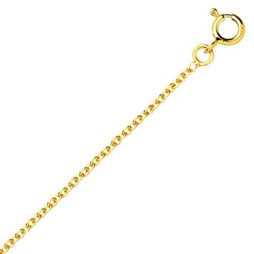 So Chic Bijoux © Chaîne Collier Longueur 45 cm Maille Forçat Rond 1,5 mm Or Jaune 750/000 (18 carats)