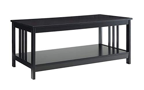 - Convenience Concepts 203382BL Mission Coffee Table, Black