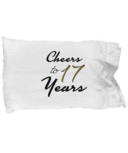 DesiDD 17th Birthday Pillowcase - Happy Birthday Gifts for 17 Year Old Women - Unique Pillow Case for Her, Women, Girlfriend, Daughter, Female Friend