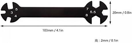 dailymall ターンバックル&ナッツのための1のrc Hudy特殊工具レンチ3月4日/ 5 / 5.5 / 7/8ミリメートルで6