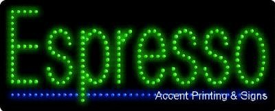 Espresso Flashing & Animated LED Sign (High Impact, Energy Efficient)